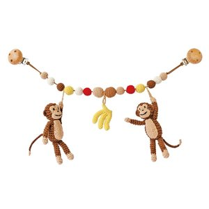 Sindibaba Pram mobile with monkeys brown