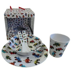 Powell Craft Melamine Tableware Tractor Set 2