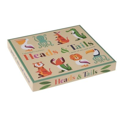 Rex London Heads and Tails Game Colourful Creatures