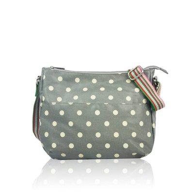 Huiskamergeluk Handtasche Carry-All Bag Dots Grey
