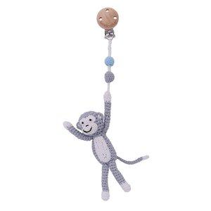 Sindibaba Pram clip with monkey grey