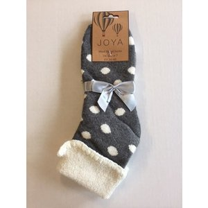 Joya Socken Wollmix extra thick Spotty grey
