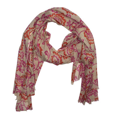 M&K Collection Schal/Pareo Colourful pink