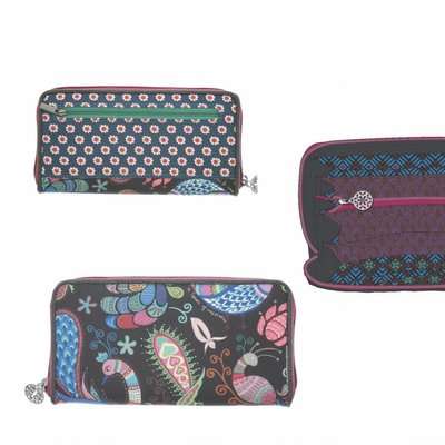 Happiness Wallet Large  Belize Petrol