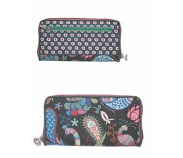 Happiness Wallet Large Petrol/Grey
