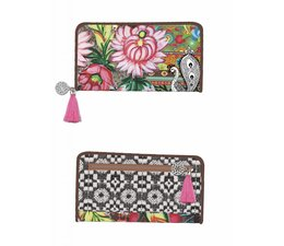 Happiness Wallet Large Red/Brown