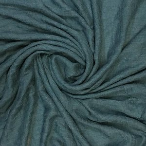 M&K Collection Schal Cotton/Wool blue teal