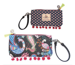 Happiness Pouch Poms Petrol/Grey