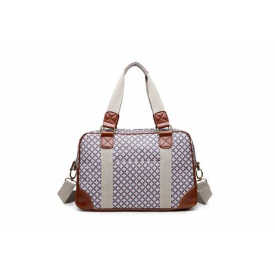 Blossify by Blossify Handtasche Travel Bag Geometric Rose brown