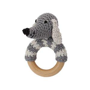 Sindibaba Rassel Dog am Holzring lucky grey