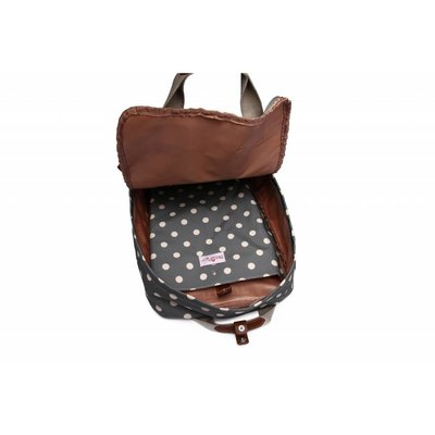 Blossify by Blossify Backpack Happy Dots grey