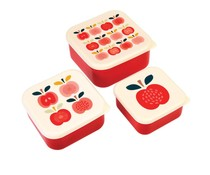 Rex London Snack-Boxen 3-Set Vintage Apple