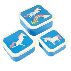 Rex London Snack-Boxen 3-Set Magical Unicorn