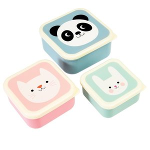 Rex London Snack-Boxen 3-set Panda,Cat,Rabbit