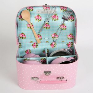 Sass & Belle Kitchen Cooking Box Pink Polka Dot