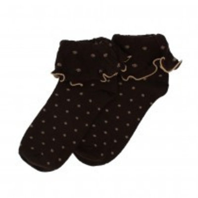 Forever England Socken Ruffle Top Spots chocolate