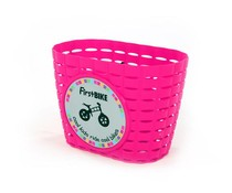 FirstBike Firstbike loopfiets mandje pink