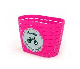 FirstBike Firstbike loopfiets mandje pink