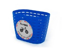 FirstBike Firstbike loopfiets mandje blauw