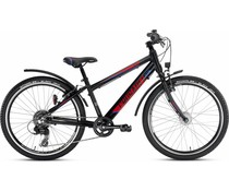 "Puky Puky Crusader MTB 24"" 8-versnelling zwart-rood 8+"