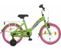 "Alpina kinderfietsen Alpina Girl Power 18"" meisjesfiets Apple Green 5+"