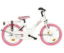 "Loekie kinderfietsen Loekie Superstar meisjesfiets 18"" White 5+"