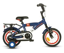 "Loekie kinderfietsen Loekie Alligator jongensfiets 12"" Blue/White 3+"