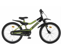 "Alpina kinderfietsen Alpina Cracker jongensfiets 20"" Black/Green 6+"