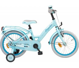 "Loekie kinderfietsen Loekie Superstar meisjesfiets 16"" Blue 4+"