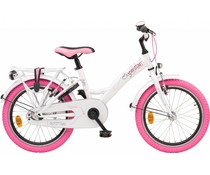 "Loekie kinderfietsen Loekie Superstar meisjesfiets 18"" Wit 5+"