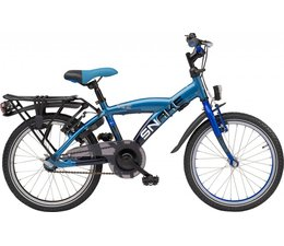 "Loekie kinderfietsen Loekie Snake jongensfiets 18"" Grey Blue 5+"