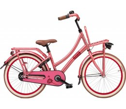 "Loekie kinderfietsen Loekie Pick Up meisjesfiets 20"" Soft Red 6+"