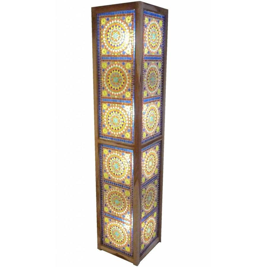 Staande lamp multi colour glasmozaïek traditioneel design