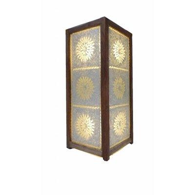 Staande lamp tranparant glasmozaïek en kraaltjes