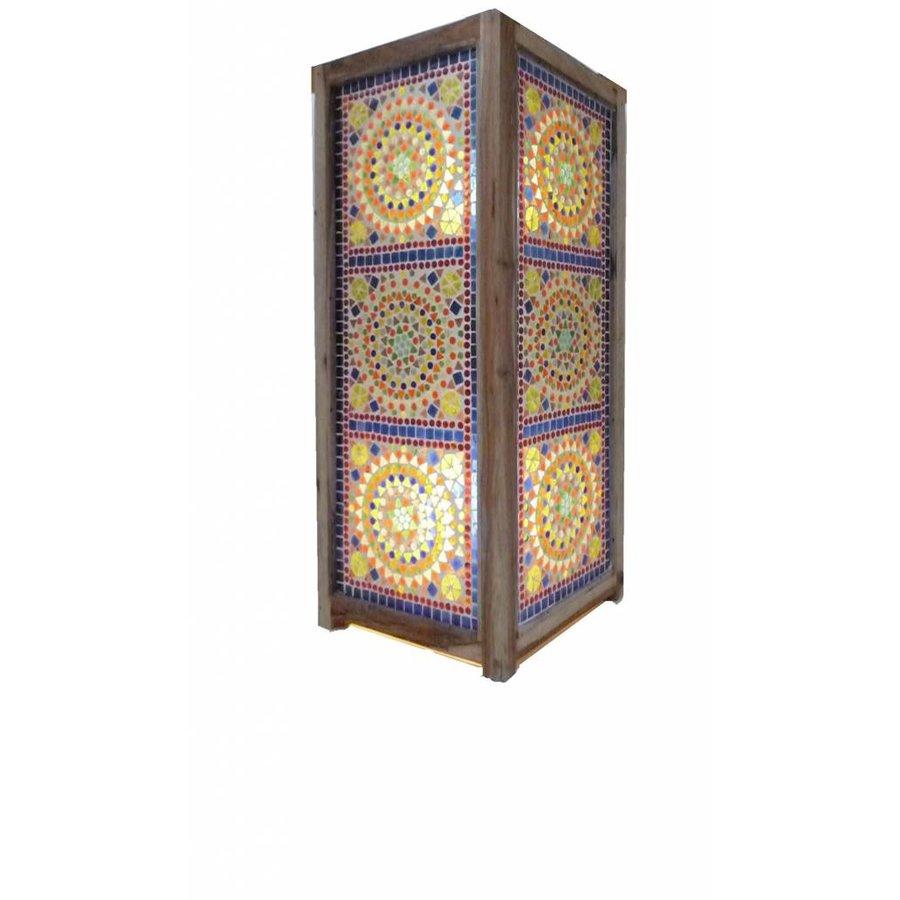 Staande design lamp glasmozaïek multi colour traditioneel design