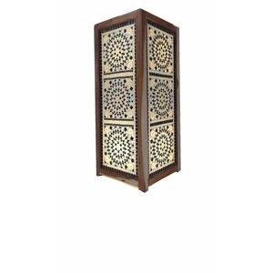 Staande lamp glasmozaïek zwart wit arabisch