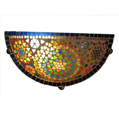 Mooie wandlamp glasmozaïek multi colour traditioneel design