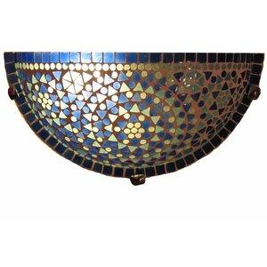 kleurrijke blauwe wandlamp deze wandlamp glasmozaïek traditioneel design