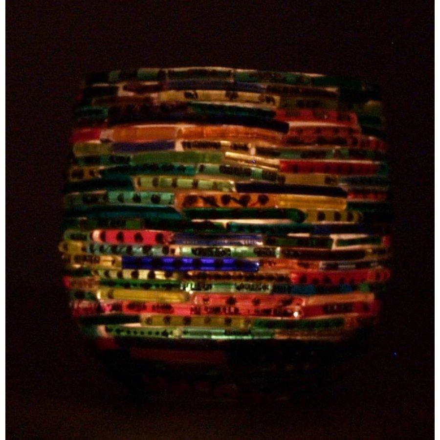 Waxinelichthouder mozaïek colored