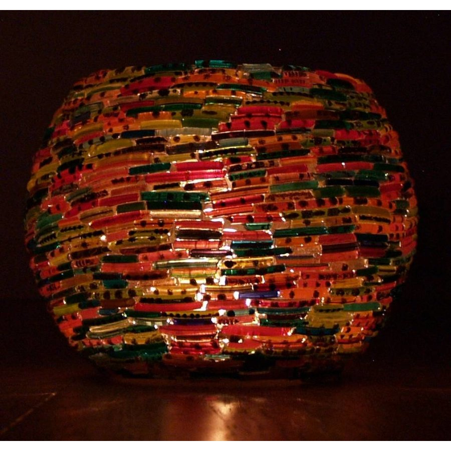 Waxinelichthouder bangles multicolor