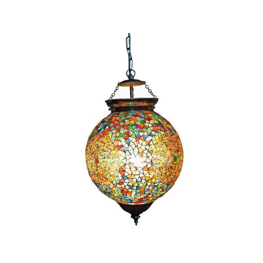 Hanglamp mozaïek multicolor met glaskralen een kleurrijke design