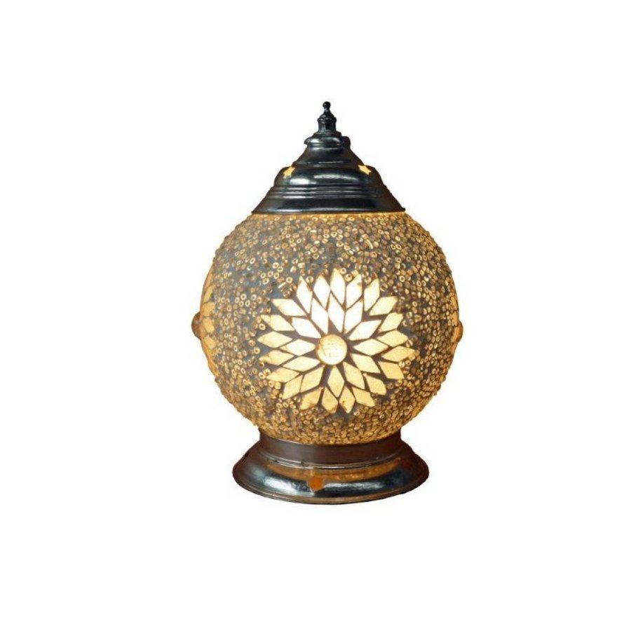 Tafellamp glasmozaïek transparant kraal