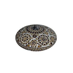 Plafonniere bruin glas mozaïek traditioneel design
