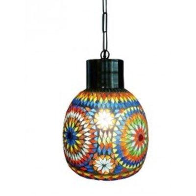 Stoere hanglamp mozaïek multi colour turkisch design
