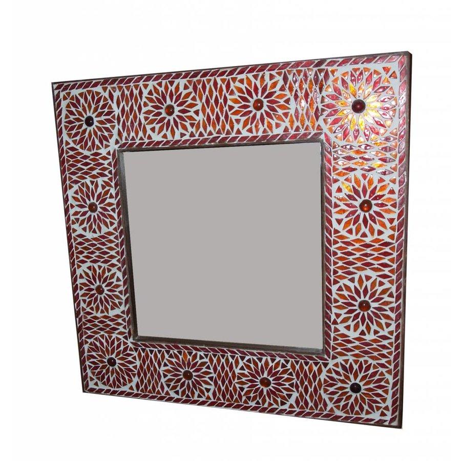 Spiegel glasmozaiek rood oranje turkisch design