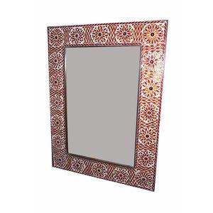 Spiegel mozaiek rood
