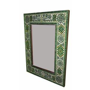 Spiegel mozaiek groen traditioneel design xl
