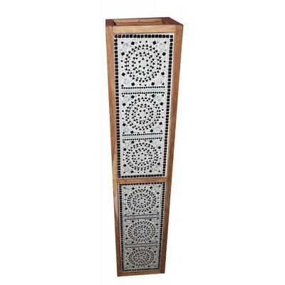 Staande lamp zwart wit mozaïek traditioneel design .