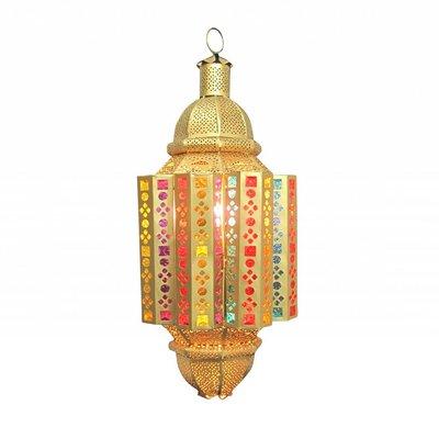 Hanglantaarn goud multi colour