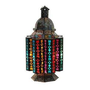 Kleurrijke oosterse lantaarn zwart multi colour